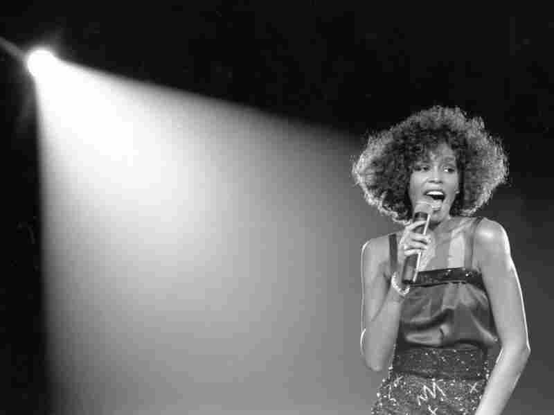 Whitney Houston performs in 1980.