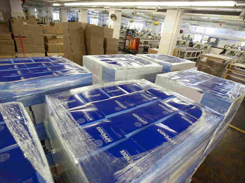 Copies of of President Obama's fiscal 2013 federal budget are readied for shipment Thursday at the Government Printing Office in Washington.