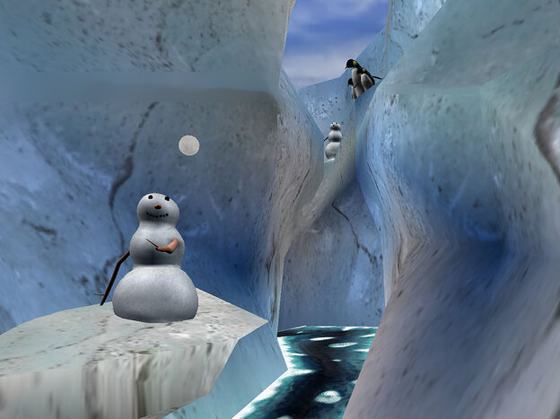 Snow World was designed specifically with burn patients in mind-- its icy river and comical snowmen are the furthest thing imaginable from fire.