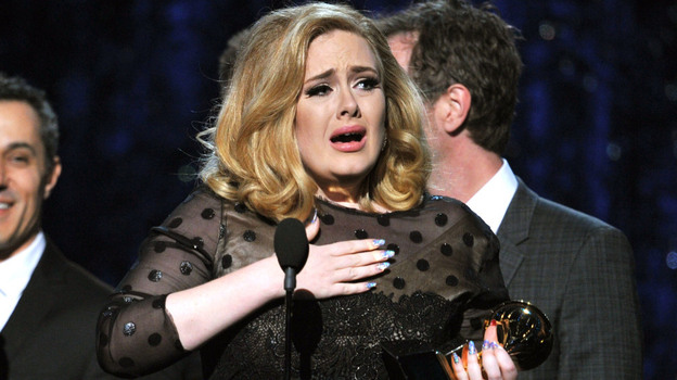 "Adele won the song of the year category at this year's Grammy Awards for her tear-jerker ""Someone Like You."" (Getty Images)"