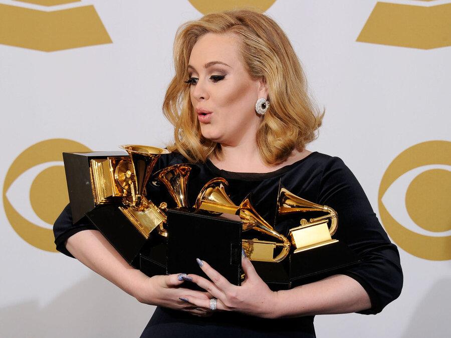 Adele with awards