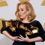 Adele won each of the six Grammys for which she