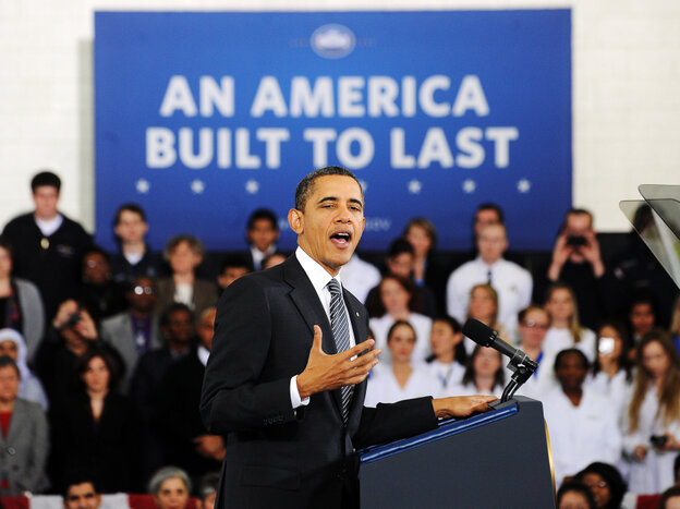 President Obama speaks on his FY 2013 Budget to students at Northern Virginia Community College in Annand
