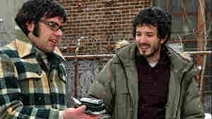 Jemaine Clement (left) and Bret McKenzie: Witty musical parodists play witless musicians in Flight of the Conchords.