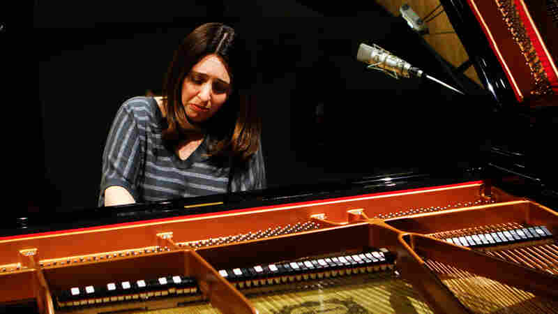 "Simone Dinnerstein, at NPR's Studio 4A, plays The Cohen Variations, a new piece based on Leonard Cohen's song ""Suzanne."""