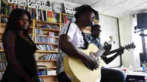 Joan Soriano performs a Tiny Desk Concert on Monday, September 26, 2011.