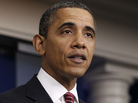 President Obama announces the revamp of his contraception policy requiring religious institutions to fully pay for birth control, Friday, Feb. 10, 2012, in the Brady Press Briefing Room of the White House in Washington.