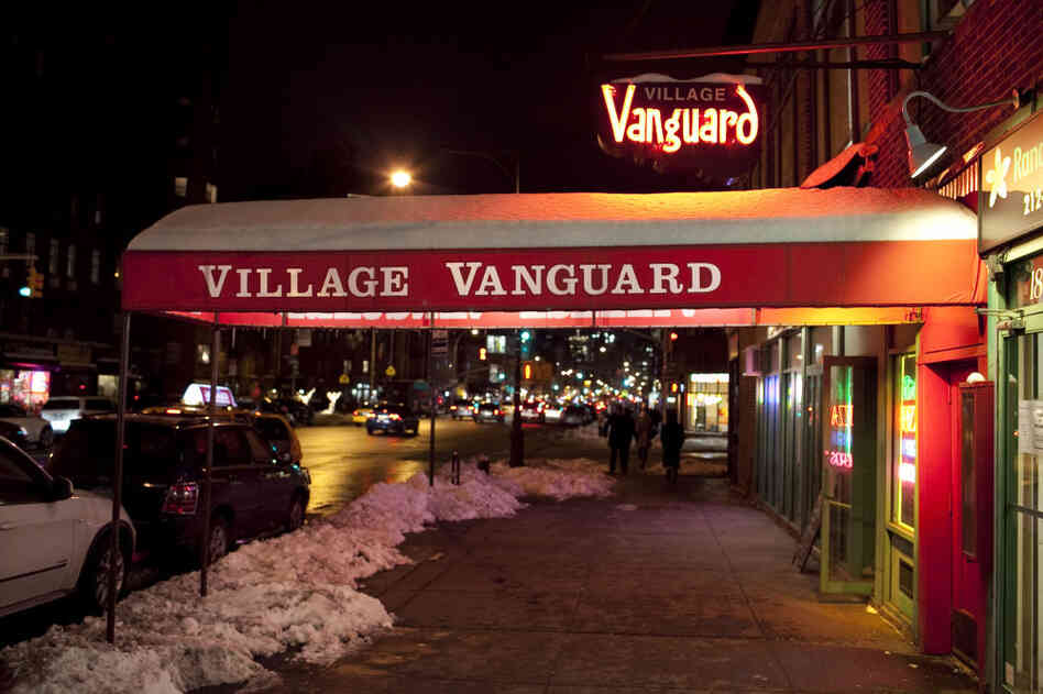 Outside the Village Vanguard, January 2011.