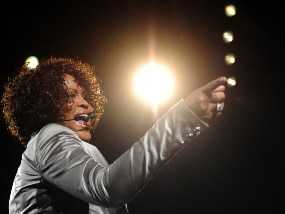 Whitney Houston performs at a May 2010 concert. (AFP/AFP/Getty Images)