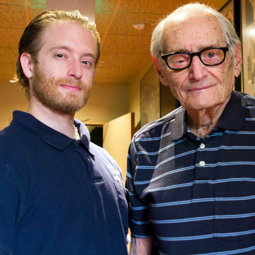 Charles Aidikoff, 97, learned the art of projection from his father, who ran silent movies in a Coney Island theater in the early 1900s. Aidikoff's grandson Josh carries on the family tradition -- he became manager of the screening room at age 19.