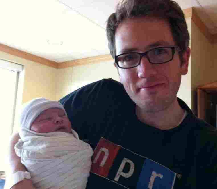 "Eric Forsyth wrote: ""Even though I was living in London for most of the year, I followed NPR's 'The Baby Project' throughout 2011 as we were expecting our own first child. When our own baby project was about to deliver last month, I threw on my favorite t-shirt before we went to the hospital. Starting him off right. :)"""