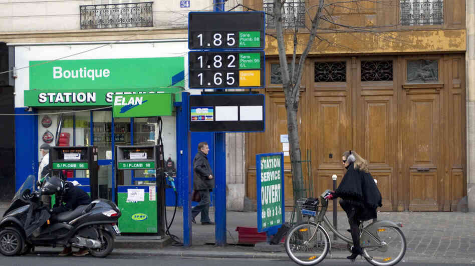 Gas prices in France have topped more than $8 a