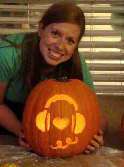 """Straight from me to public radio, here's the hippest pumpkin on the block. Happy Valentine's Day, NPR. You've always been such a sweetie,"" writes Rebecca Feldhaus, an avid listener and supporter of NPR Member Station WKMS 91.3 in Murray, KY."
