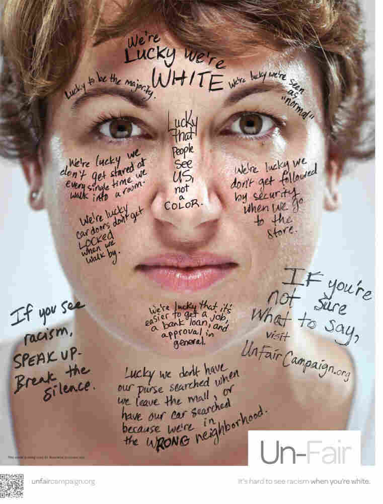 One of the posters from the Un-Fair Campaign's anti-racism effort. Click to see more.