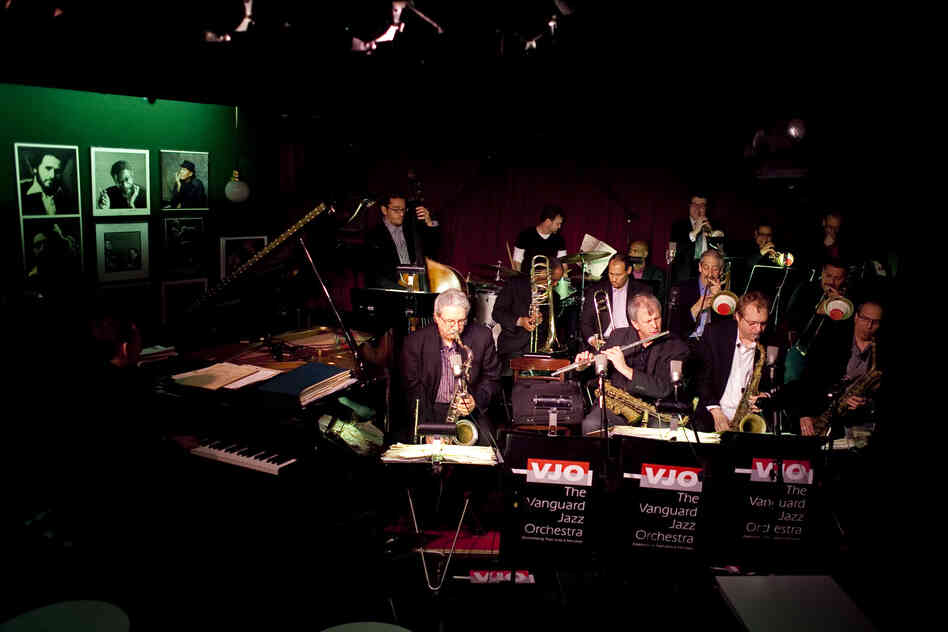 The Vanguard Jazz Orchestra at soundcheck.