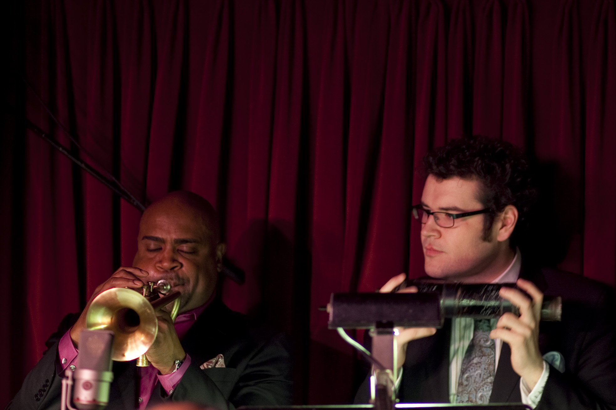 Trumpeters Terell Stafford (left) and Nick Marchione.