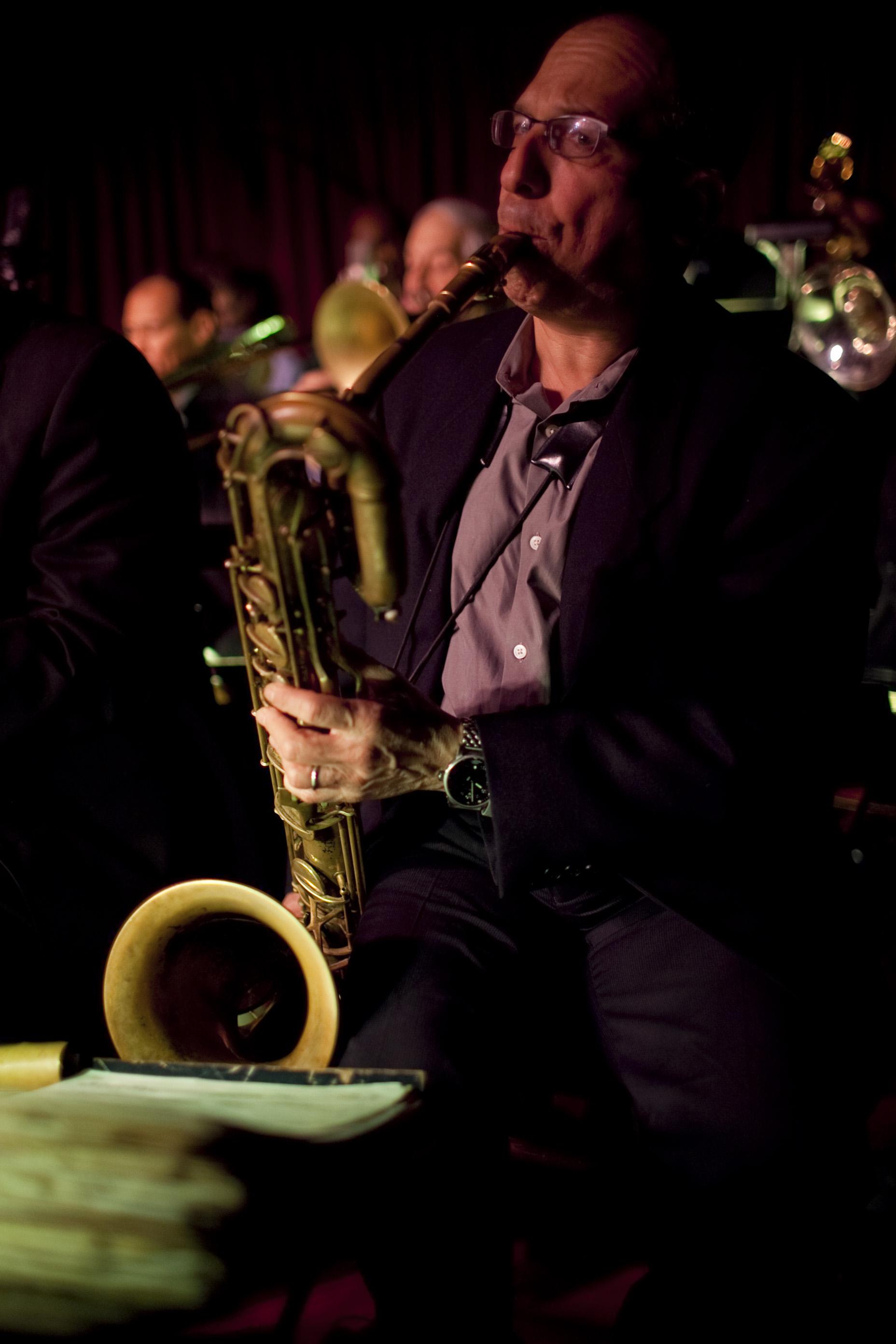 Baritone saxophonist Gary Smulyan.