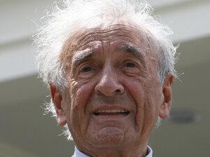 Nobel Peace Prize laureate Elie Wiesel