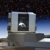 """The Large Synoptic Survey Telescope, seen in this artist's rendering, will be built on the peak of the Cerro Pachon mountain in Chile and will survey every patch of the night sky. The data the telescope will collect will allow researchers to """"answer fundamentally different questions about the universe,"""" says one astronomer."""
