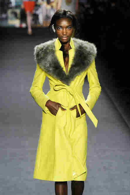 "2012 is a big year for coats, like this vibrant piece from the Tracy Reese collection. ""We see a proliferation of ... really beautifully made, beautifully tailored coats of all different descriptions,"" Singer says."