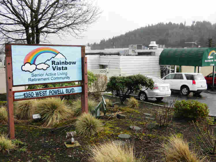 "The Rainbow Vista retirement community in Gresham, Ore., bills itself as ""100 percent gay owned and operated."""