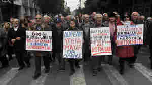 In Athens on Tuesday, Greek pensioners marched in protest against new austerity cuts. The eurozone insists Greece must stick to hugely unpopular austerity measures agreed to in return for a 130 billion euro debt bailout.