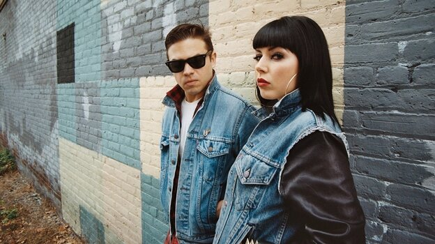 Derek Miller and Alexis Krauss of Sleigh Bells. The duo's new album is Reign of Terror.