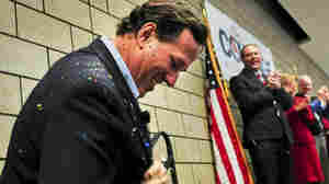 Glitter-Bombing: A Sparkly Weapon Of Disapproval On The Campaign Trail