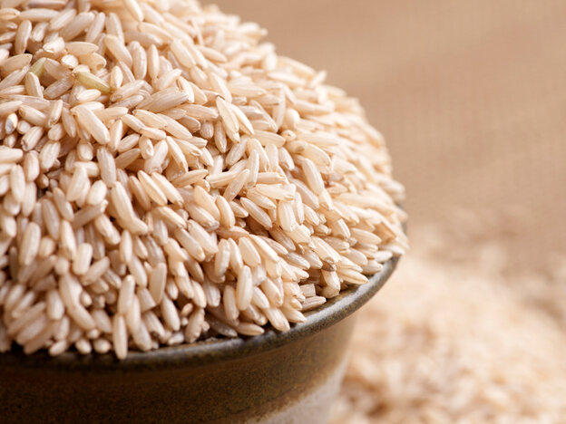 Rice plants absorb arsenic from soil, and some if it makes it to the bowl.