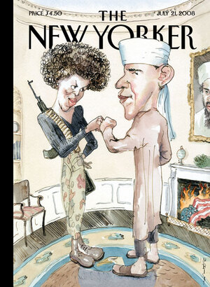 "Barry Blitt's controversial ""Politics of Fear"" ran on the cover of The New Yorker in July 2008. ""It was obviously taking a chance,"" Blitt says."