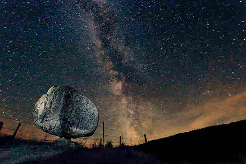 Looking as if it fell from the sky, a 40-ton erratic stands on the Colville Indian Reservation in Washington state. Such boulders are sometimes called rubbing stones because bison scratched up against them.