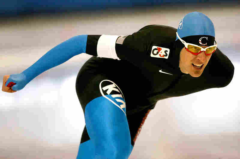 Nick Pearson competes in the 1,000 meter event during the U.S. Speedskating Championships at the Utah Olympic Oval on Dec. 27, 2009.
