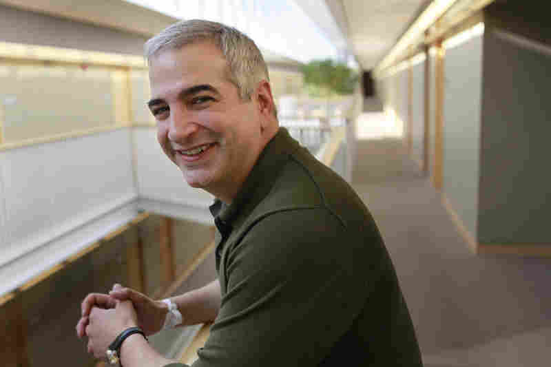 Shadid won two Pulitzer prizes for international reporting, in 2004 and 2010. Here, he poses on the campus of Brown University in the year of his second win.