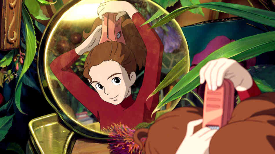 Small Wonder: Arrietty (voiced by Bridgit Mendler) is an inches-tall Borrower whose family lives within the walls of a human household.