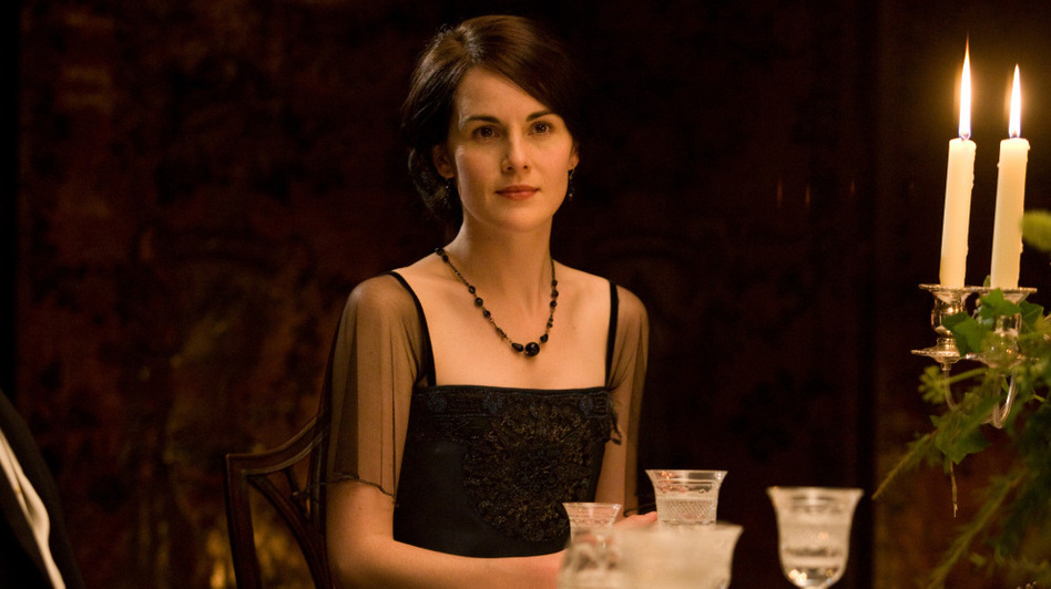Michelle Dockery as Lady Mary: As Downton Abbey viewers know, dining in fine style was de rigueur in Edwardian England. (Courtesy (C) Carnival Film & Television Limited 2011 for Masterpiece)