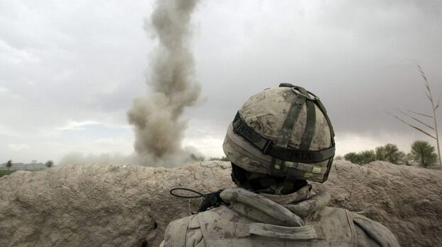 Traumatic brain injuries are most often caused by powerful blasts from improvised explosive devices. A roadside bomb explodes, and the concussive effect violently shakes the brain inside the skull.  (Reuters /Landov)
