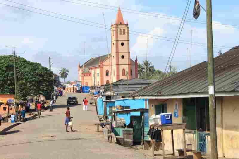 Main Street in Otuam, Ghana