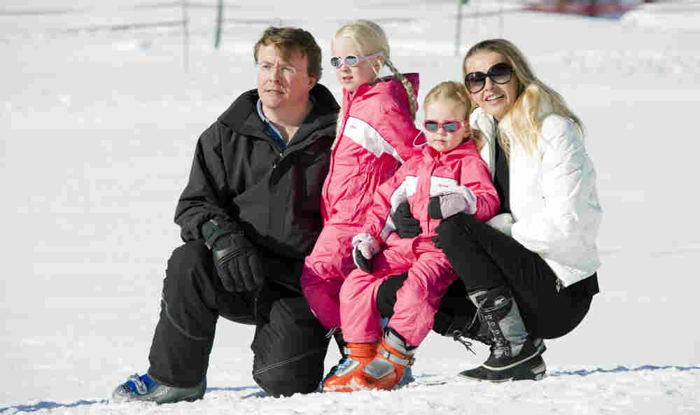 Dutch Prince Friso with his family at Lech, Austria in February, 2011. He was rescued from an avalanche while skiing today in Lech.