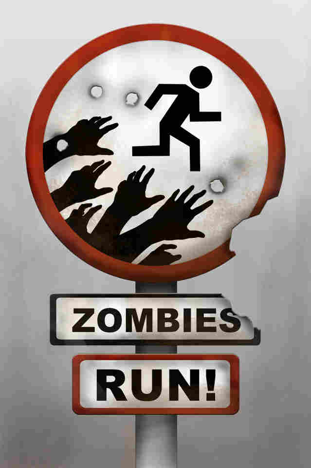 The Zombies, Run! iPhone app is a running game and audio adventure set in a post-apocalyptic world.
