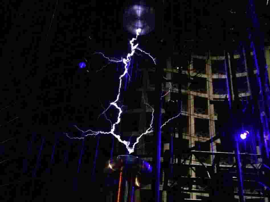 The Tesla coil turns high voltage into music.