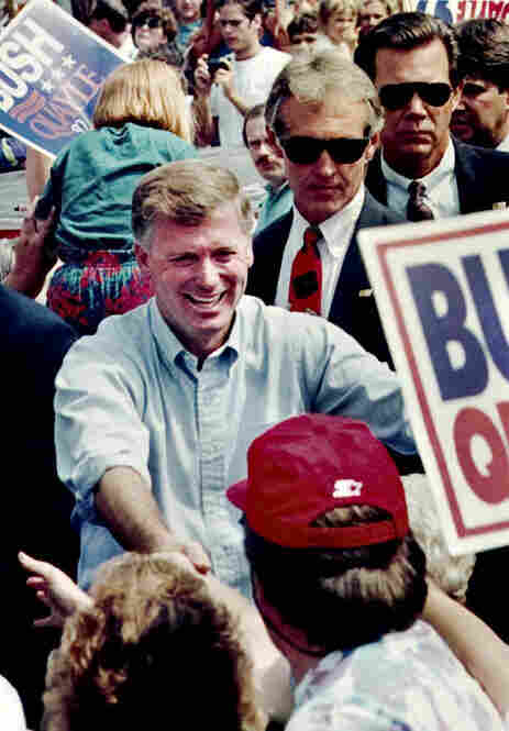 Vice President Dan Quayle visits his hometown of Huntington, Ind., in 1992. Quayle served under George H.W. Bush from 1989 to 1993.