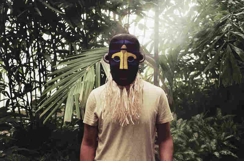 The British post-dubstep producer SBTRKT wears one of his many masks in a promotional photo for his self-titled album.