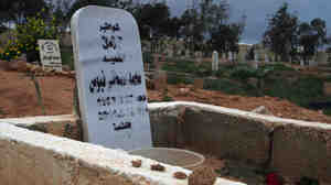 "The grave of Mohamed ""Mo"" Nabbous is seen in Libya. Mo was killed by a sniper on March 1"