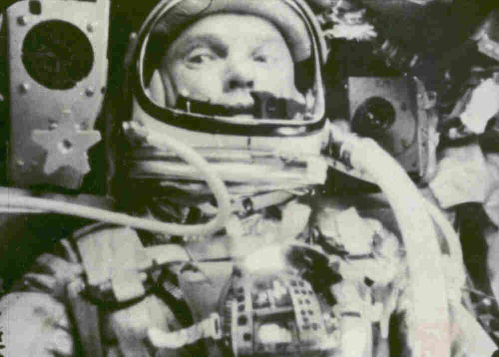 An image captured on Feb. 20, 1962, by NASA shows astronaut John Glenn during his space flight in the Friendship 7 Mercury spacecraft, weightless and traveling at 17,500 mph. The image was made by an automatic sequence motion picture camera.