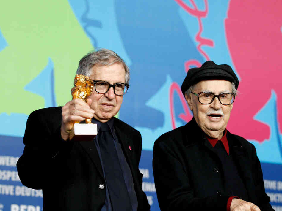 Italian directors Vittorio, right, and Paolo Taviani were awarded the Golden Bear prize for their film Caesar Must Die (Cesare Deve Morire) this weekend.