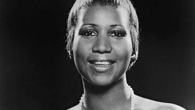 Aretha Franklin, photographed in 1977.