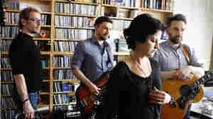 The Cranberries performs a Tiny Desk Concert at NPR Music in Washington, on February 10, 2011.