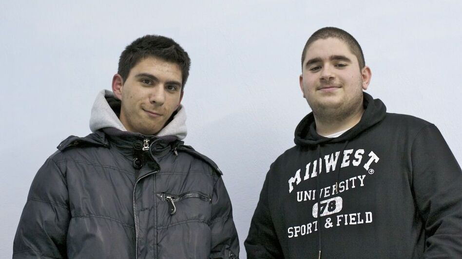 Andreas Kallermenos (left) and Vassilis Pandiskas, both 17, say they worry about their future in Greece.