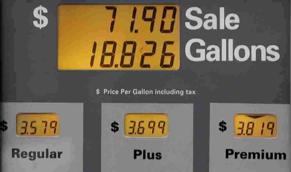 A gas pump in Portland, Oregon.