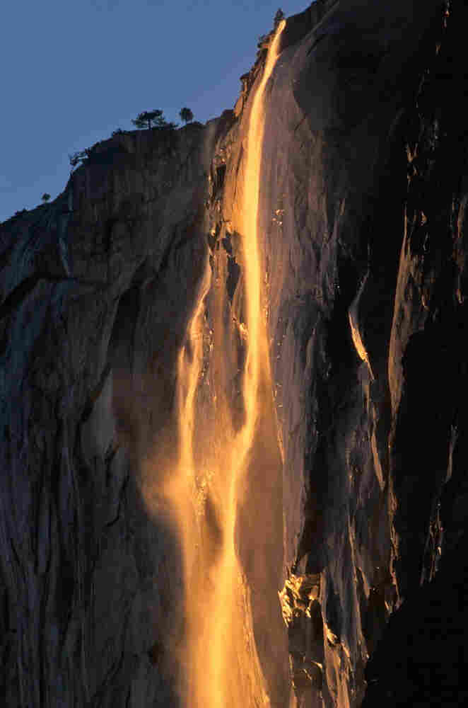 Horsetail Fall at sunset.